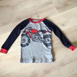 Baby Gap Boys Long Sleeve Motorcycle PJ Shirt 2T